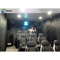 Quality Portable Mobile 5D Theater / Cinema Fun Rides With Cabin Or Trailer For Amusement Park for sale