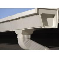 Quality Vinyl Rain Gutters Plastic PVC Rain Gutters Pipes OEM For Roof for sale
