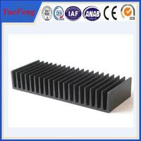 Quality Hot! aluminium extrusion proiles black anodized heat sink, extruded aluminum heatsink for sale
