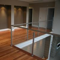Buy Modern stainless steel cable railing system with square /round handrails at wholesale prices