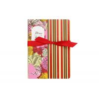Quality Stripe Custom Printed Notebooks , Personalised Writing Journal Bookmark Bow Found for sale