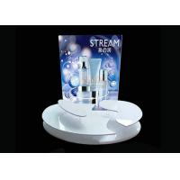 Quality Advertising Sticker Printing White Acrylic Makeup Display Stand 4mm 5mm Thickness for sale