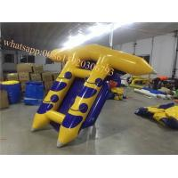 Quality agua banana boat prices  fly fish inflatable sea  flying fish banana boat inflatable water games flyfish banana boat for sale