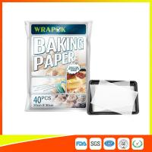 Quality Waterproof Baking Paper Sheets / Non Toxic Parchment Paper Heat Resistant 20 * 30cm for sale