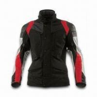 Quality Motorcycle Jacket with Polyester Shell Fabric, PU Coating and Detachable Quilted Lining for sale