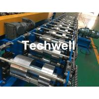Quality K Gutter, Round Gutter Cold Roll Forming Machine With Hydraulic Cutting PLC Control for sale
