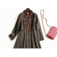 China 2018 women's dress , autumn and winter , new style curled high necked long sleeves on sale