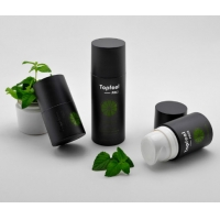 Quality Matte Black Empty Cosmetic Plastic 30ml 50ml 100ml Cylinder Liquid Skincare Container Skin Care Airless Pump Bottle For for sale
