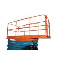 Quality 450Kg AC / DC Adjustable Extension Heavy Duty Scissor Lift with Four Wheel , Customized for sale