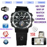 Buy Y32 32GB 720P WIFI IP Spy Watch Camera Wireless Remote CCTV Video Monitor IR at wholesale prices