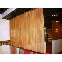 Quality Decorative Wire Mesh Curtain Coil Drapery Stainless Steel / Aluminum Materials for sale