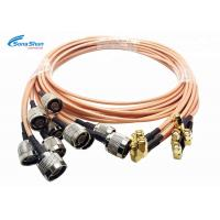 Quality LAN System RF Microwave Cables , SMA Male Right Angle Plug RF Connection Cable for sale