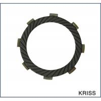 Low noise motorcycle parts clutch friction disc plates with 8 teeth for Yamaha KRISS for sale