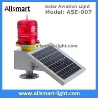 Quality 30LED Red Solar Obstruction Light Aviation Warning Lamp with Solar Panel For Tower Crane High Building for sale