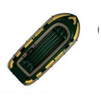 China Comfortable 0.75mm PVC 3 Person Inflatable Boat Set Up With Oars on sale