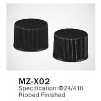 China Φ24/410 PP/PET round plastic cap for cosmetic plastic bottle closure, ribbed finished on sale