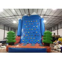 Quality Amusement Park Inflatable Rock Climbing Wall Sports Games Straight inflatable climb wall with the pine trees for sale