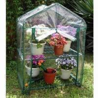 Quality 2 Layers Greenhouse, Steel Frame and PVC Transparent Cover with Zipper for sale