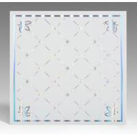 Quality Light Weight Fireproof PVC Ceiling Boards , Decorative Plastic Ceiling Tiles for sale