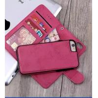 Quality Soft Cover Iphone 6 2 In 1 Wallet Case Crazy Horse Customized With Magnetic Clip for sale
