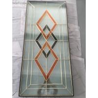 "Quality golden brass caming decoarative glass panel 1""thickness of high quality for sale"