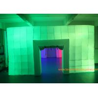 Quality 8.5*6*3M Inflatable Air Tent , Inflatable Colorful Tent With LED Lights for outdoor event for sale