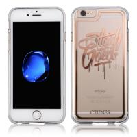 China Gold Printed Clear Transparent IPhone 6 Protective Cases Hard + Soft TPU Bumper on sale