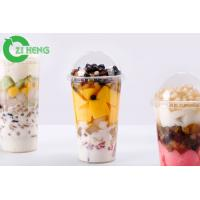 Quality Durable Transparent Plastic Drink Lids Break Proof Tasteless For 700ml Cups for sale