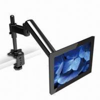 Quality Two-section Table Arm for LCD Monitor Mounts, with Superior Flexibility and Movement for sale