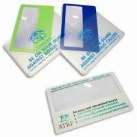 Quality Credit Card Size Magnifiers, Made of PVC Material, Lightweight and Easy to Carry for sale