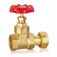 Forged Brass Gate Valve DN32 DN40 CW617 Water Control Valve With Thread WRAS for sale