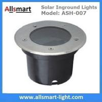 Quality Φ120x90mm Round Solar Paver Lights Solar Underground Lights Solar In-ground Lights IP68 for Landscaping Plaza Square for sale