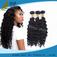 Quality Natural Black Virgin Hair Extensions Kinky Curly , Malaysian Curly Hair Weave No Damage for sale