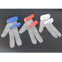 Quality Safety Protection Stainless Steel Wire Mesh Cut Resistant Gloves Three Fingers for sale