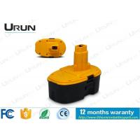 China High Capacity Dewalt 18V Battery Pack , Yellow And Black Color on sale