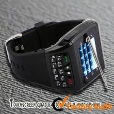 Quality W980 Unique Designed Quadband Wrist Watch Phone With 1.3 Mega Pixels CMOS Camera for sale