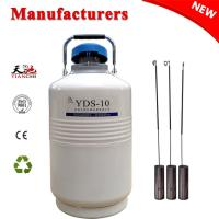 10L Liquid nitrogen container Small capacity cryogenic semen tank for sale
