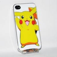 Quality OEM customed cartoon LED phone cover cases with cute yellow pikachu design for iPhone for sale