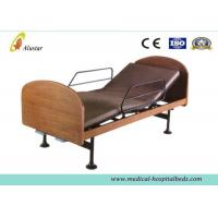 Quality Wooden 2-function Manual Medical Hospital Beds for Home Use by Steel Construction (ALS-HM003) for sale