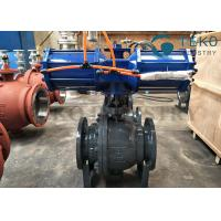 Quality High Pressure DBB DIB Structure 3PC Body Trunnion Ball Valve Flanged End With Gear Operation for sale