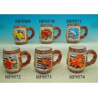 Quality Colorful Coffee Custom Ceramic Mugs With Relief Sea Animals 12. X 8 X 11 Cm for sale