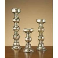 China Elegant design hand painted glass pedestal candle holders for dinning table top, bathroom on sale