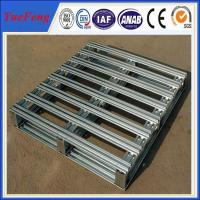 Quality Metal aluminum pallet, 3 Runner Bolted Aluminum Pallet with Recyclable affordable for sale