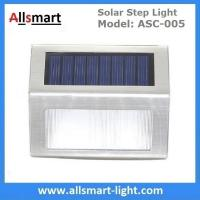 Quality 20LM Solar Step Lights Solar Stair Lights 3LED Solar Fence Lights Outdoor Waterproof Security Wall Lamps for sale