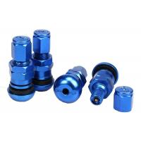 Buy High Strength Chrome Valve Stem Covers Metal Valve Mouth With Rubber Pad at wholesale prices