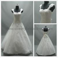 Quality Ball Gown Square Neck Straps Lace and Tulle Wedding Dress #AS2163 for sale