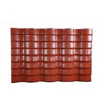 Quality PVC Resin double roman roof tiles Corrugated Roofing Sheets 40mm Wave Height for sale