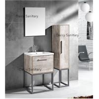 Quality Modern MDF Bathroom Vanity Classic Waterproof Design With Side Cabinet for sale