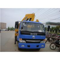 Quality Dongfeng 4*2 5ton folded arm crane mounted on cargo truck for sale