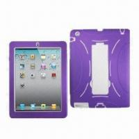 Quality Silicone Cases for iPad 2G, Silicone Quake-proof, Dirty-proof, Customized Colors Accepted for sale
